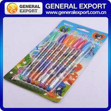ST33403 Colorful School Supplier Cheap Glitter Gel Ink Pen