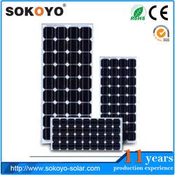 mono-crystalline high-efficiency 12V 100W cheap solar panels in china