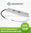 CE,ROHS approved 24v dc input led driver 20w 1.5v dc power supply delta led driver