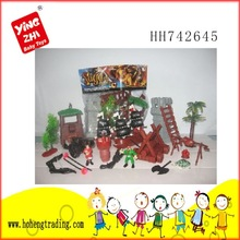 christmas santa pirate ship/decorative pirate ship/plastic toy pirate ship