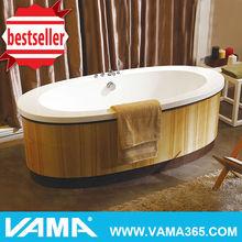 VAMA VY-2906 soaking acrylic portable wooden bathtub