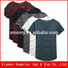 Custom colorful t shirt plain for men and wpmen