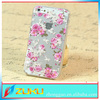 Hot Selling Flower Fancy Flowers Transparent Case for iPhone 5S