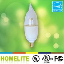 UL Energy Star approved Aluminum e12 LED candle light 4w