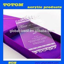 POP custom acrylic wedding invitation card box