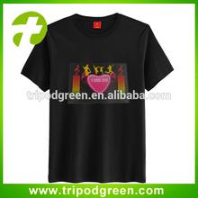 Heart design,lover popular music controller equalizer el sound sensor t-shirt,el ladies t-shirt