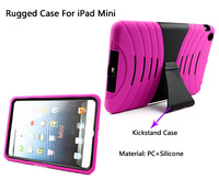 Dual layers shockproof kickstand combo cover for iPad mini