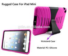 Dual layers shockproof kickstand combo cover for iPad mini