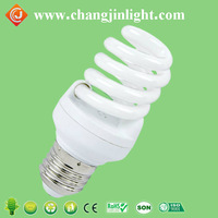 Factory direct tri-phosphor 6400K T5 full spiral energy saving CFL light bulbs