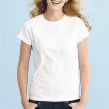 2014 Women White Simple Style High Quality Bulk Blank T-Shirts
