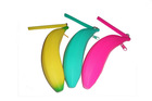 Fanny banana shape silicone purse easy carry easy clean