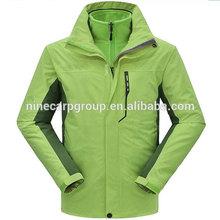 Unisex plain polyester windbreaker jacket