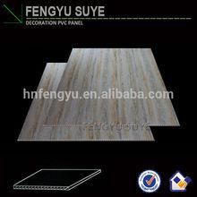 595mm wooden designed pvc flat false ceiling design , pvc ceiling panel China manufacturer