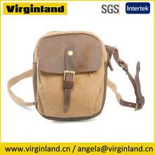 Hot Sale Popular Vintage Canvas Custom Women Branded Sling Bag with Embossed Logo
