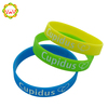 Silk Printed Rubber Silicone Bracelets Custom Silicone Products Green / Yellow