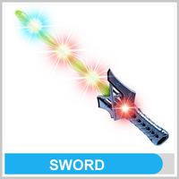 Novelty PP Funny Plastic Katana Sword With EN71