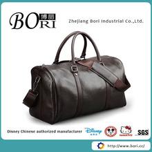 trendy genuine leather travel bag for men