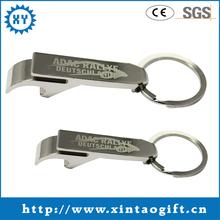 Cheap aluminium Keychain bottle opener, beer opener sliver
