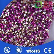 Factory Direct free sample wholesale diamond mesh wrap roll sparkle rhinestone ribbon for garment accessories
