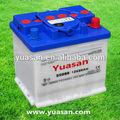 Top koreanisch blei-säure-din trocken autobatterie wiederaufladbare 12v50ah