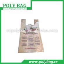 color plastic vest bags customized size