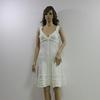 A line dress sexy V neck lace work design dress celebrity sexy white bandage dress 60368