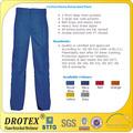 100% tratados de algodón retardante de llama pantalones de trabajo/resistente al fuego tela para pantalones de trabajo
