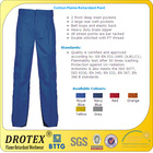 100% Treated Cotton Flame Retardant Work Trouser/ Fire resistant fabric for Work trouser