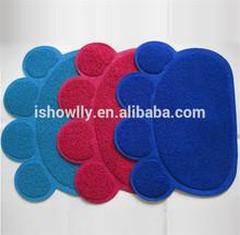 Pet Paw shape print litter mat for cats/PVC mat/vinyl cushion floor mat 45x60cm/China wholesale pet accessories
