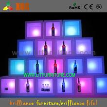 light up bar furniture/white wine cabinet/led illuminated shelf light