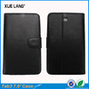 7.0 Classic Litchi genuine leather case for samsung tablet