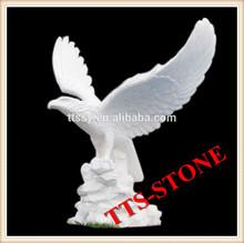 Stone carving eagle statue