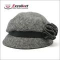 Personalizado algodão vestido de noiva inverno chapéus