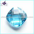 Solta cúbicos de zircônia 3 * 3 mm cushion cut aquamarine gemstone áspero