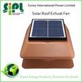 Casa verde! Nova casa aparelho elétrico painel solar do telhado ventilador de ventilação