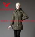 el último 2014 real de piel de alta calidad brillante de invierno de la moda de las señoras europea al por mayor ropa rockabilly