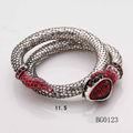 2014 venta caliente moda de joyería forma de serpiente de oro pulsera brazalete de serpiente