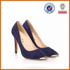 2014 fashion new style high quality fashion leather navy shoes for women