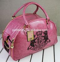 novelty pet carrier bag,PU leather dog carrier,dog products