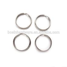 Fashion High Quality Metal 15mm stainless Steel Split Ring Key Ring