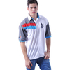 2014 Fashion Wellow Knitted Fabric Simple Men Polo Shirt With Rib Collar And Cuff
