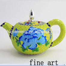 Hottest enamel paint prices antique enamel pot cloisonne enamel bowl tea pot gift art