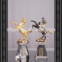 Luxury golden and antique horse statue