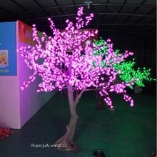 2014 SJ LT001 Factory LED tree in holiday lighting LED artificial cherry blossom tree light decor outdoor led cherry tree lights