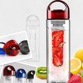 2014 de diseño de moda de plástico de color naranja tritan limón jugo de infusión de botellas de agua