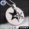 Wholesale new stainless steel pentagram pendants