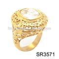 hollow arte artesanato de jóias de diamante pedra grande anel de ouro de projetos