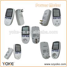 digital power meter socket ,home use power meter plug with Large LCD display