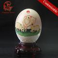 نحت النمط الصيني الزخرفة بيضة النعامة