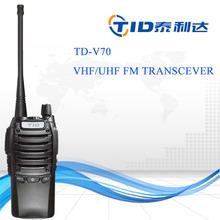 TD-V70 wireless 2 tone 5 tone radio frequency handheld scramble band uhf/vhf fm two-way radio